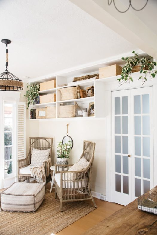 rattan chairs in creative director whitney leigh morris'tiny canal cottage. / sfgirlbybay