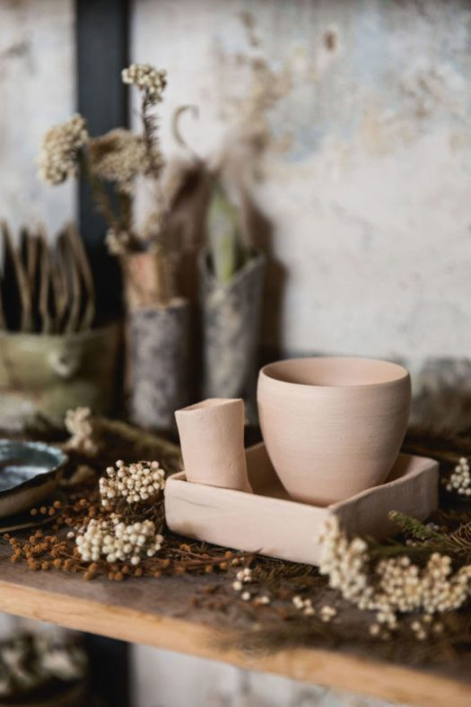 inside ceramicist Ema Pradère's workshop in paris. / sfgirlbybay