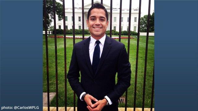 WPLG anchor Carlos Suarez