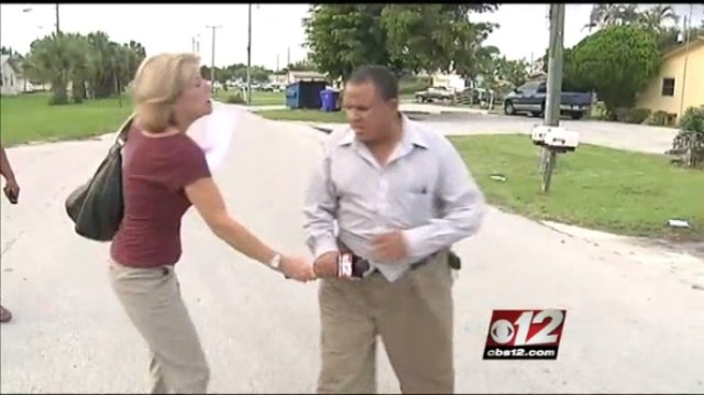 Lynn Gordon WPEC CBS 12 News reporter assaulted by slumlord
