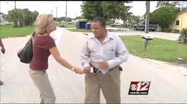 Lynn Gordon WPEC CBS 12 News reporter assaulted by slumlord