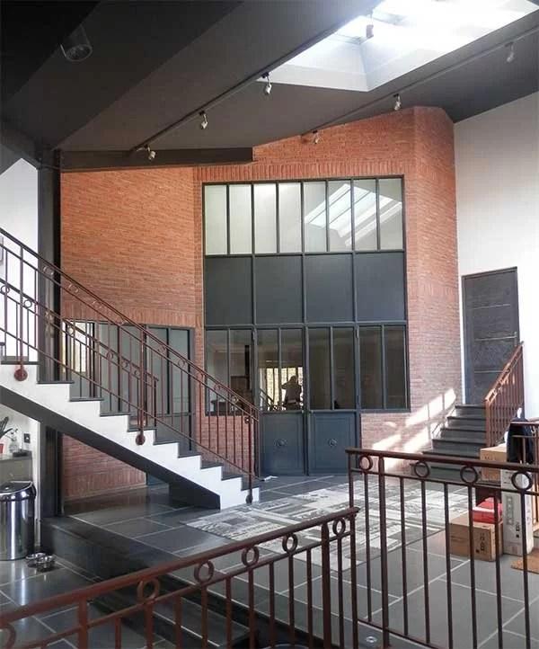 Aménagement intérieur métallique Cloison style industriel Yvelines