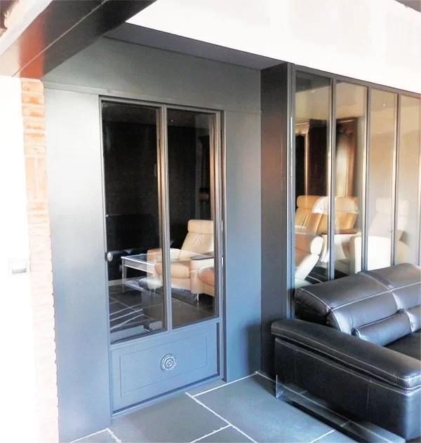 aménagement intérieur métallique : cloison verrière