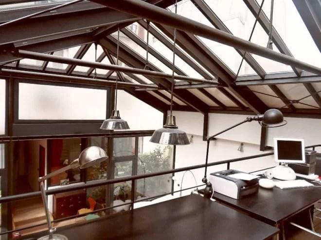 Charpente métallique et toiture vitrée paris