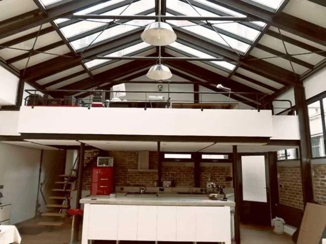 renovation charpente structure métallique intérieur d'un loft paris