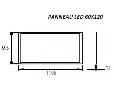 panneaux led 60x120 56w