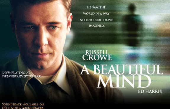 Russel Crowe in A beautiful Mind