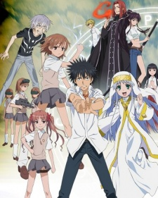 Touma, with assorted weirdo supporting cast.  Index is the one in the white habit.  (Don't ask me WHY though.)