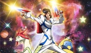 Among the many powers of Space Dandy are stupid hair and uncomfortable expressions.