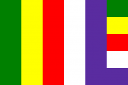 Picture of The international Buddhist Flag