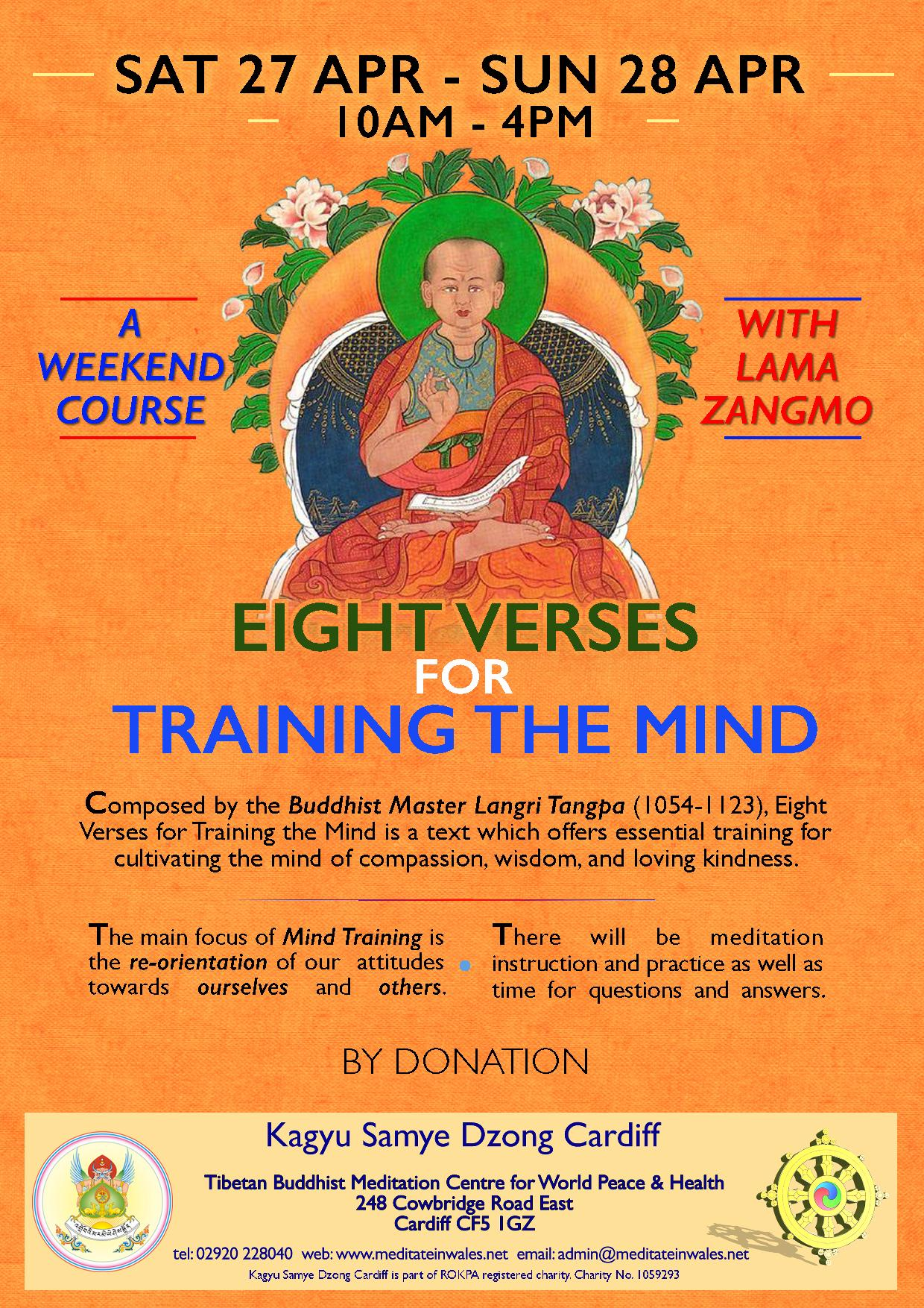 Eight Verses For Training the Mind Lama Zangmo Cardiff