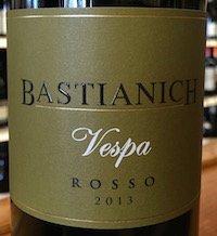 Bastianich Vespa Rosso 2013 The San Francisco Wine