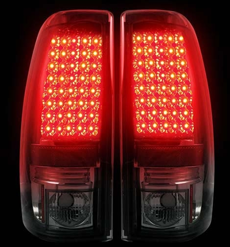 Recon 264173bk Smoked Led Tail Lights 99 07 Chevy Gmc Truck