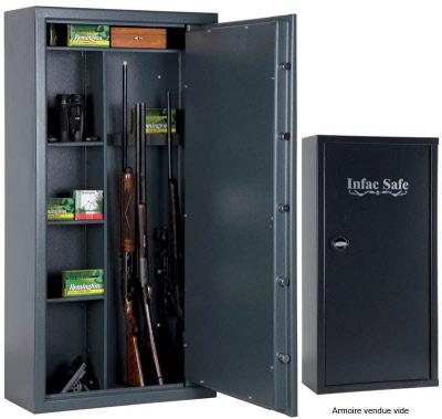 armoire forte infac 20 armes ou 10 etageres