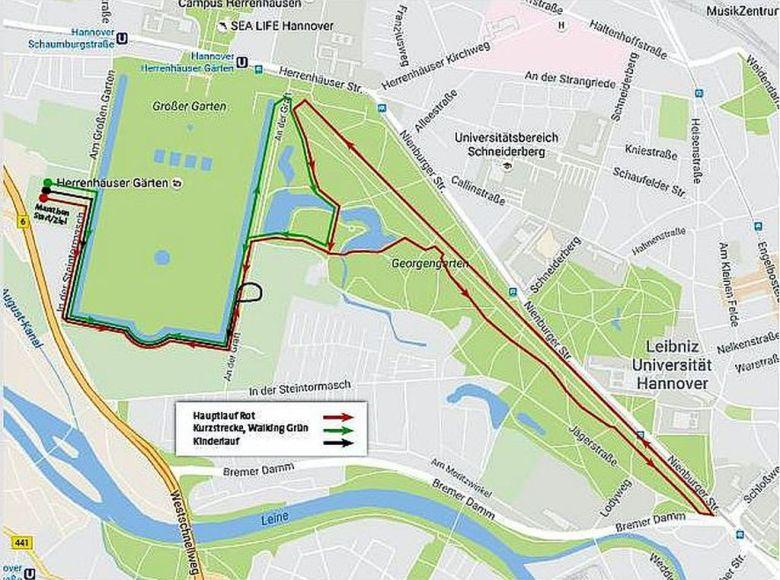 Laufstrecken Winterlauf 2018