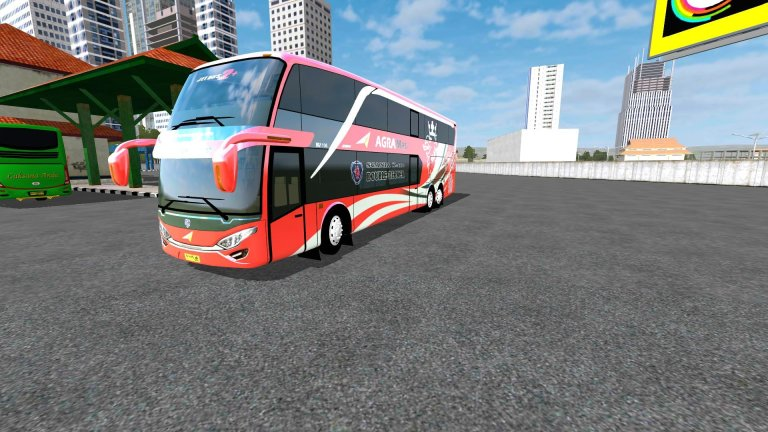 Jetbus2+ SDD Doubel Decker Vehicle Mod for Bus Simulator Indonesia