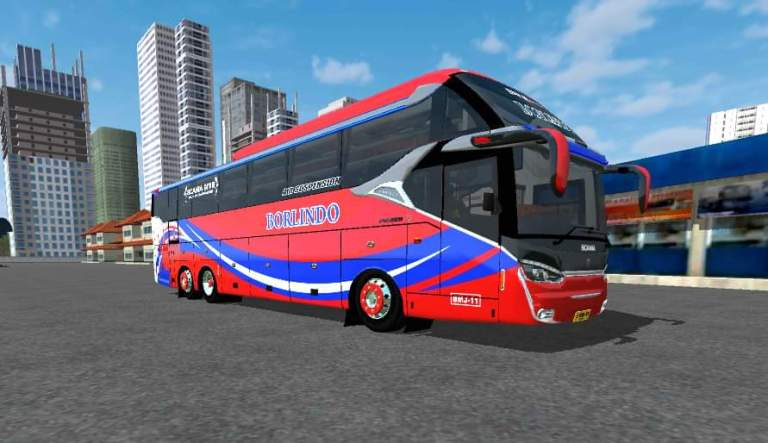Terbaru XHD Bus Mod for Bus Simulator Indonesia