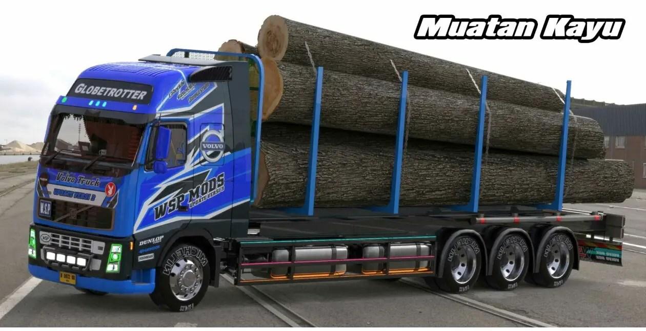 Download Volvo Truck V3 Mod for Bus Simulator Indonesia, Volvo Truck V3, BUSSID mod, BUSSID V3, Mod, Mod for BUSSID, SGCArena, Truck Mod for BUSSID, Vehicle Mod, Volvo Truck V3, WSPMods