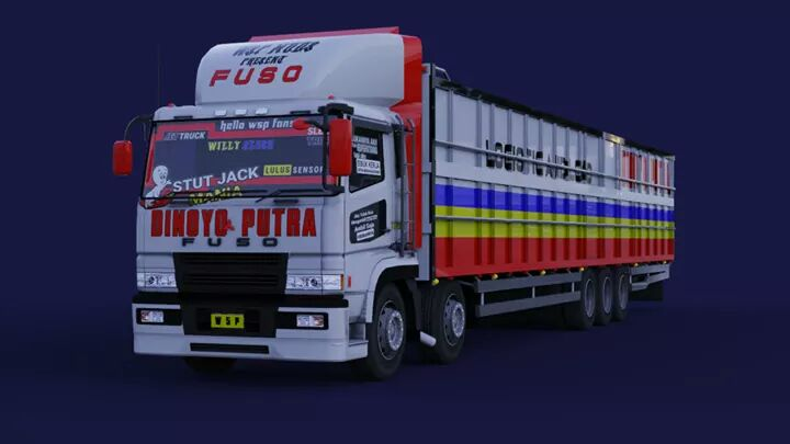 FUSO SUPER GREAT TRIBALL Truck Mod for BUSSID