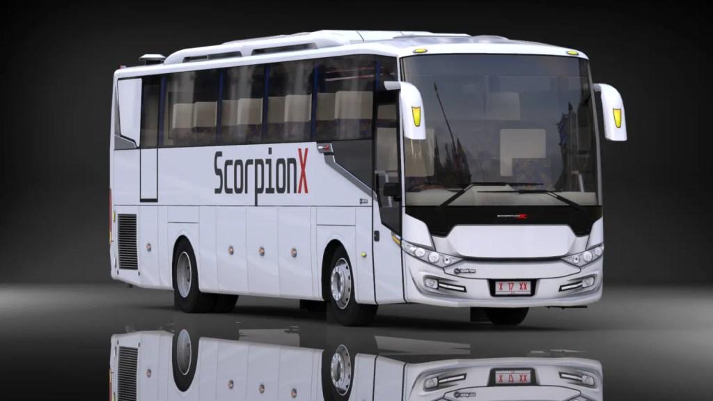 Download Scorpion X Bus Mod for BUSSID, Scorpion X, BUSSID Bus Mod, BUSSID Vehicle Mod, Sahrul Ramdani, Scorpion Bus Mod