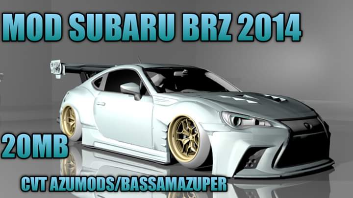 Subaru BRZ 2014 Car Mod for Bus Simulator Indonesia