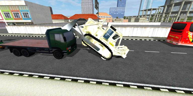 Bulldozer Komatsu Mod for Bus Simulator Indonesia