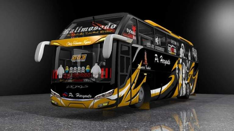 JETLINER SHD Bus Mod for Bus Simulator Indonesia