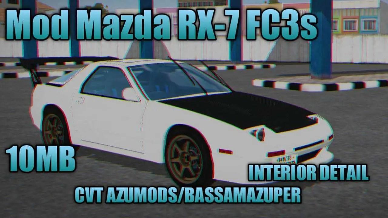 Download Mazda RX-7 FC3s Car Mod for Bus Simulator Indonesia, Mazda RX-7 FC3s, AZUMODS, Car Mod, Mazda RX-7 FC, Mazda RX-7 FC Mod, Mazda RX-7 FC3s, Mazda RX-7 FC3s Mod, SGCArena, Vehicle Mod