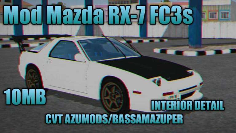 Mazda RX-7 FC3s Car Mod for Bus Simulator Indonesia