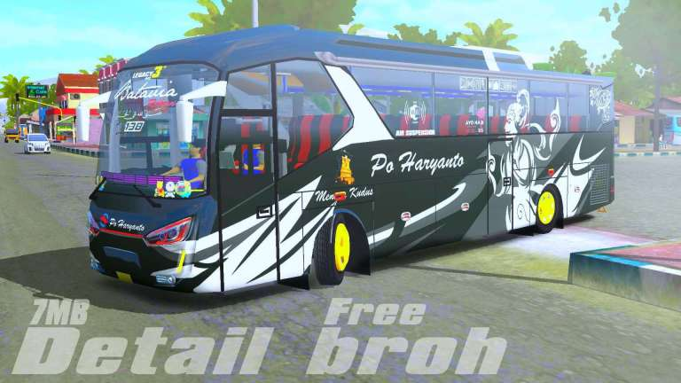LAKSANA LEGACY SKY SR2 HD Bus Mod for BUSSID