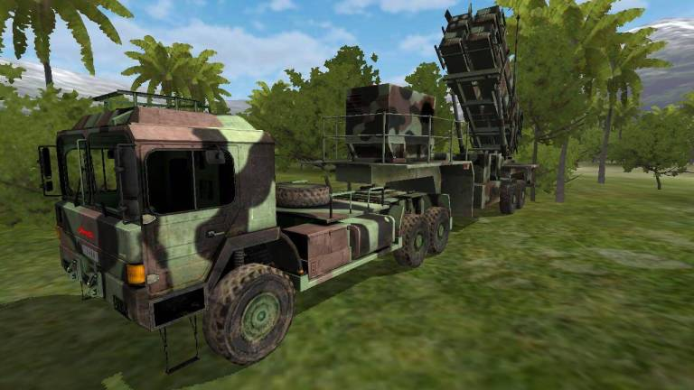 Missile Launcher Truck Mod for Bus Simulator Indonesia