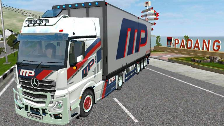 Actros V2 Truck Mod for Bus Simulator Indonesia