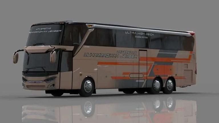 JetBus3+ UHD Bus Mod for Bus Simulator Indonesia