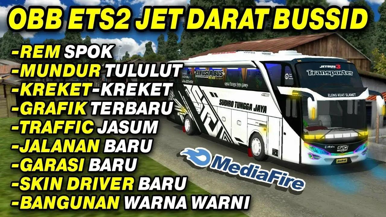 Download Rombak Sound Jet Darat Ets2 Spok Obb Mod for BUSSID V3.3.3, , BUSSID OBB Mod, BUSSID Traffic Mod, Obb Mod BUSSID, Yodi Channel