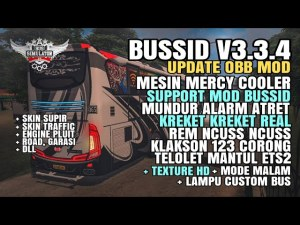 Download BUSSID V3.3.4 Obb Mod: Mercy Cooler + Texture HD Dll, , BUSSID OBB Mod, Famnuery, Obb Mod BUSSID