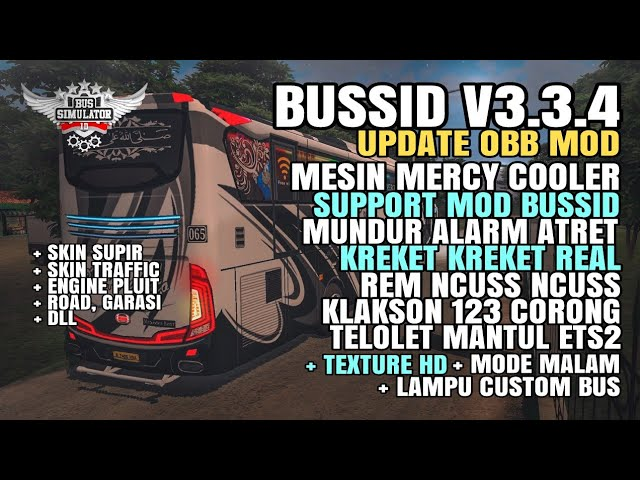 BUSSID V3.3.4 Obb Mod: Mercy Cooler + Texture HD Dll