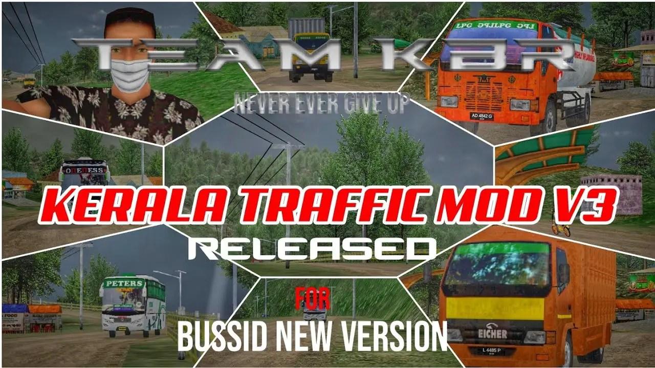 Download Kerala Traffic V3 Beta Obb Mod for BUSSID V3.4, , BUSSID OBB Mod, Kerala Traffic Mod, Team KBR