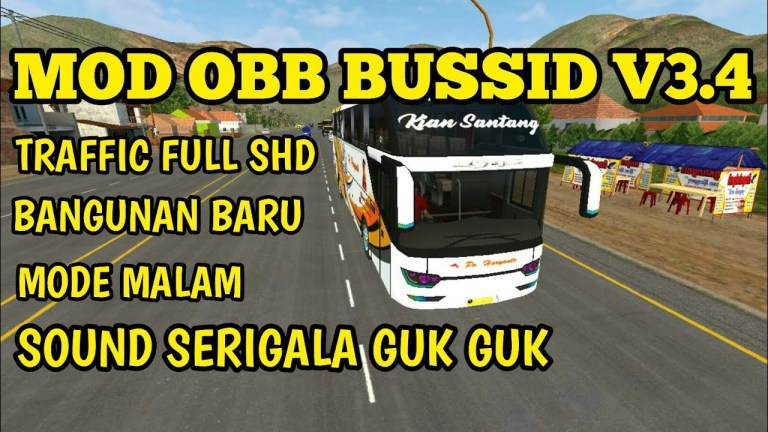 Mod Obb BUSSID V3.4 Sound Serigala Graphic HD New Building