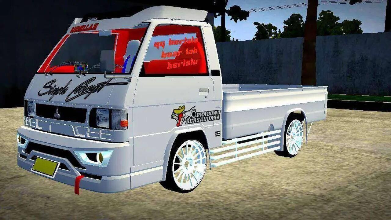 Mitsubishi L300 Mod BUSSID, Mod BUSSID Mitsubishi L300, Mod Pickup Mitsubishi L300 BUSSID, BUSSID Truck Mod