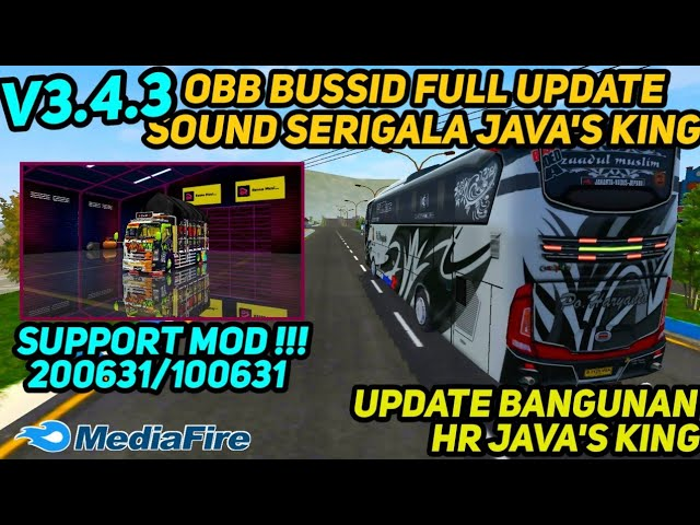 BUSSID V3.4.3: Sound Serigala HR Java's King Obb Mod
