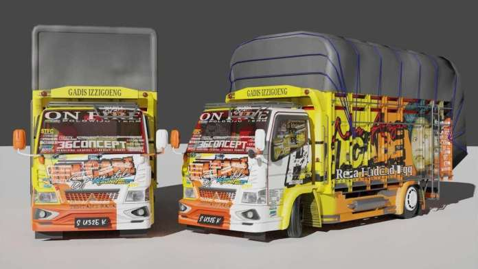 Download New Mitsubishi HM Cabe Truck Mod for BUSSID by ADS from SGCArena, BUSSID Truck Mod