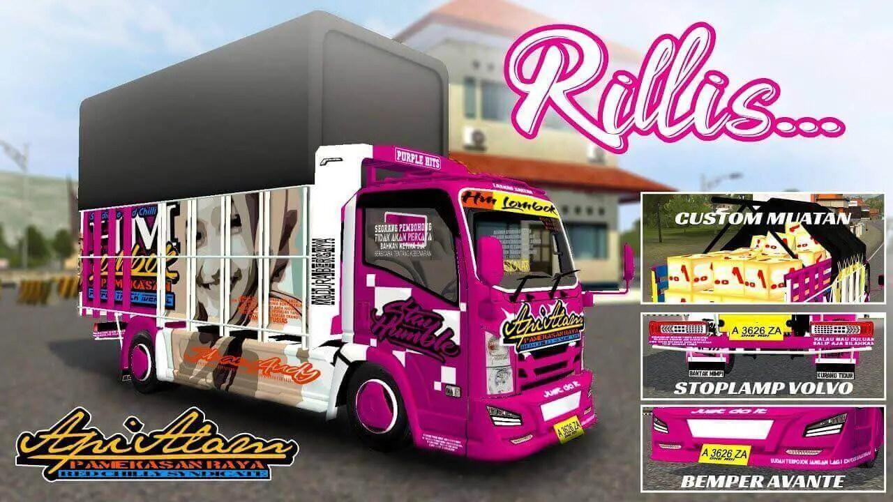 Download NMR 71 HM Lombok Truck Mod for BUSSID, NMR 71 HM Lombok, BUSSID Truck Mod, BUSSID Vehicle Mod, NMR71 Mod BUSSID, Souleh Art