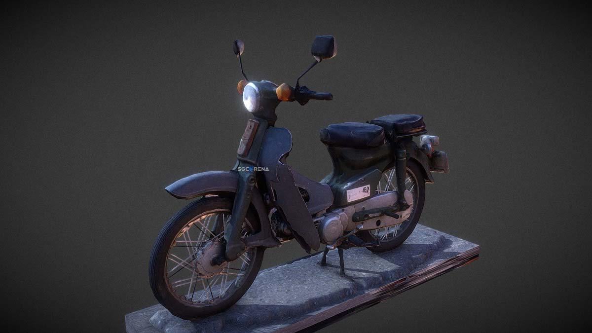 Download Honda C70 Bike Mod for BUSSID, Honda C70, AZUMODS, BUSSID Bike Mod, BUSSID Vehicle Mod