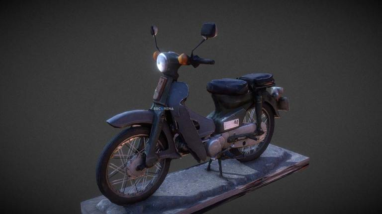 Honda C70 Bike Mod for BUSSID