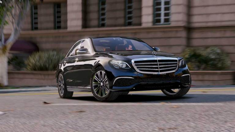 Mercedes Benz E Class Luxury Car Mod for BUSSID