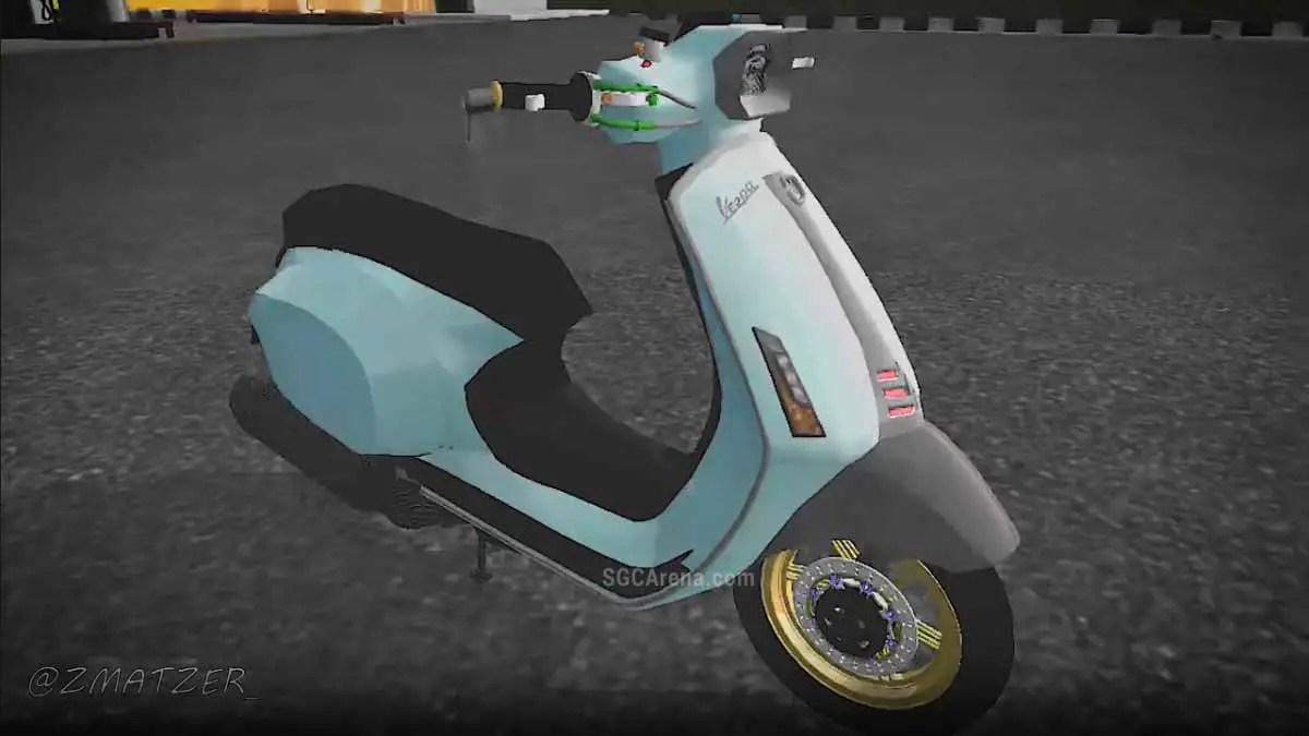 Download Vespa Matic Mod for Bus Simulator Indonesia, Vespa Matic Mod, AZUMODS, BUSSID Bike Mod, BUSSID Vehicle Mod