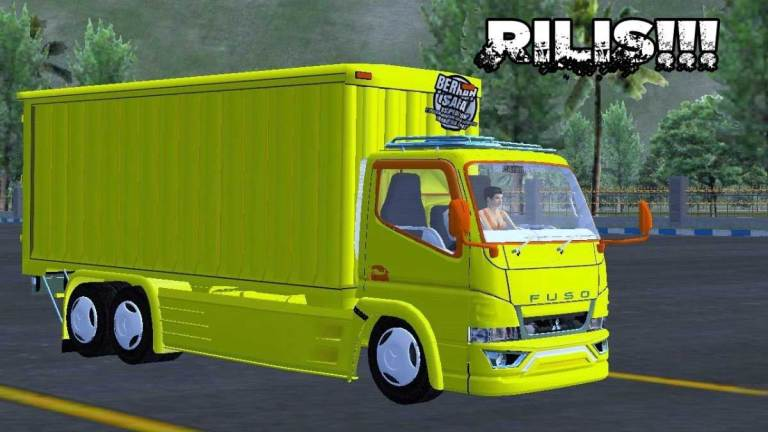 Canter Box Tronton Truck Mod for BUSSID