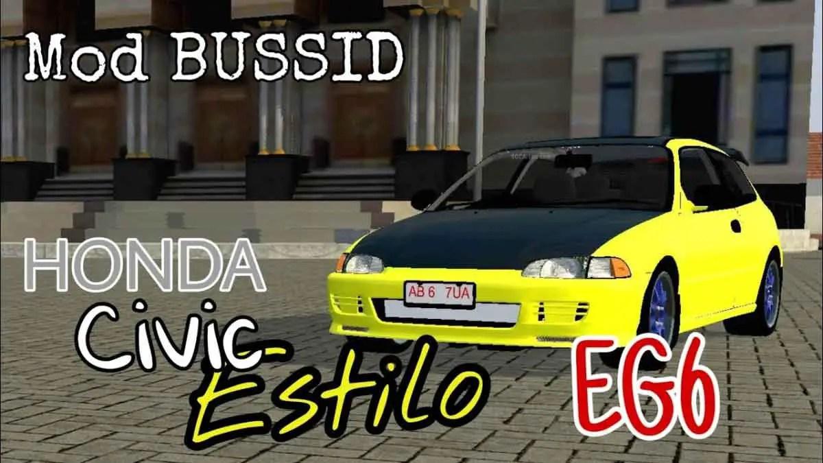 Download Honda Civic Estilo EG6 Car Mod for Bus Simulator Indonesia, Honda Civic Estilo EG6, BUSSID Car Mod, BUSSID Vehicle Mod, Honda, HONDA CIVIC Mod, NanoNano