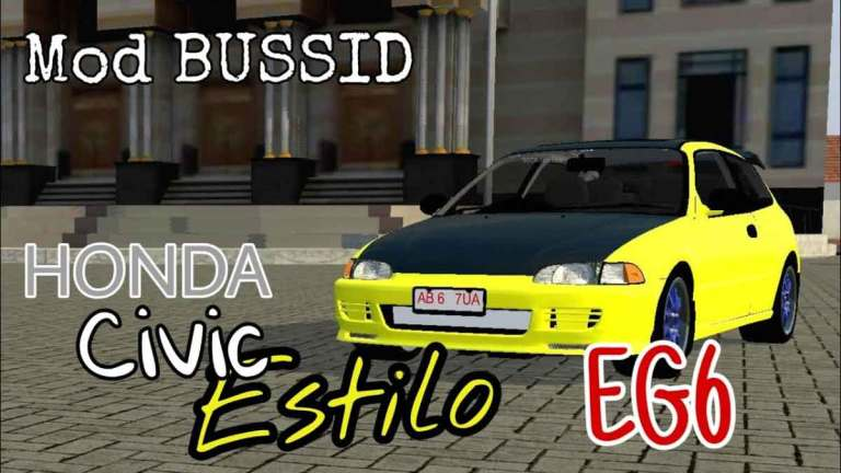 Honda Civic Estilo EG6 Car Mod for Bus Simulator Indonesia