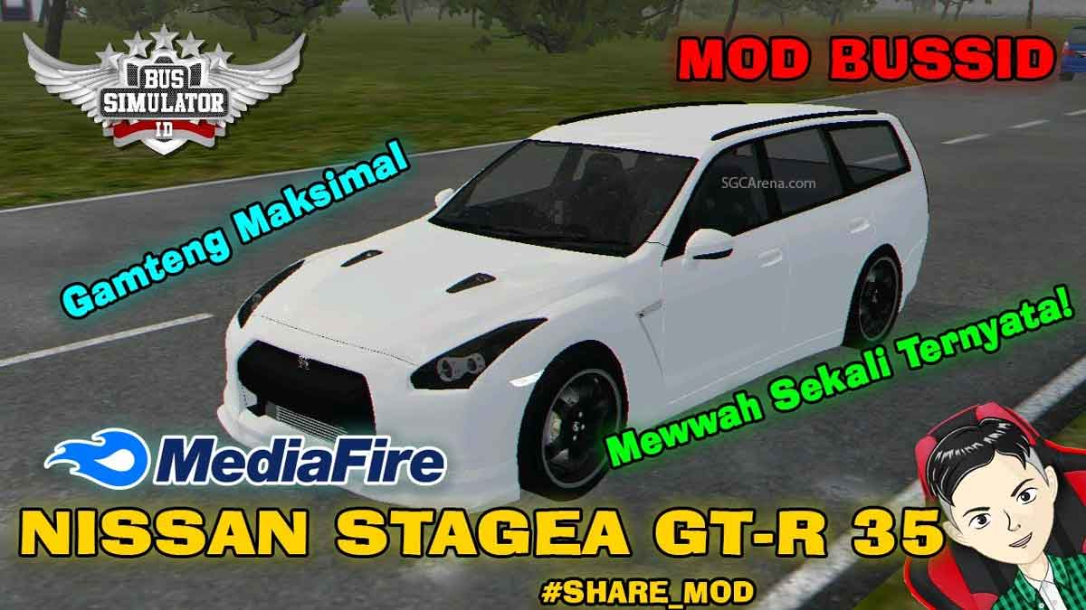 Download Nissan Stagea GTR R35 Car Mod BUSSID, Nissan Stagea GTR R35, BUSSID Car Mod, BUSSID Vehicle Mod, MAH Channel, Nissan, NISSAN GTR Mod